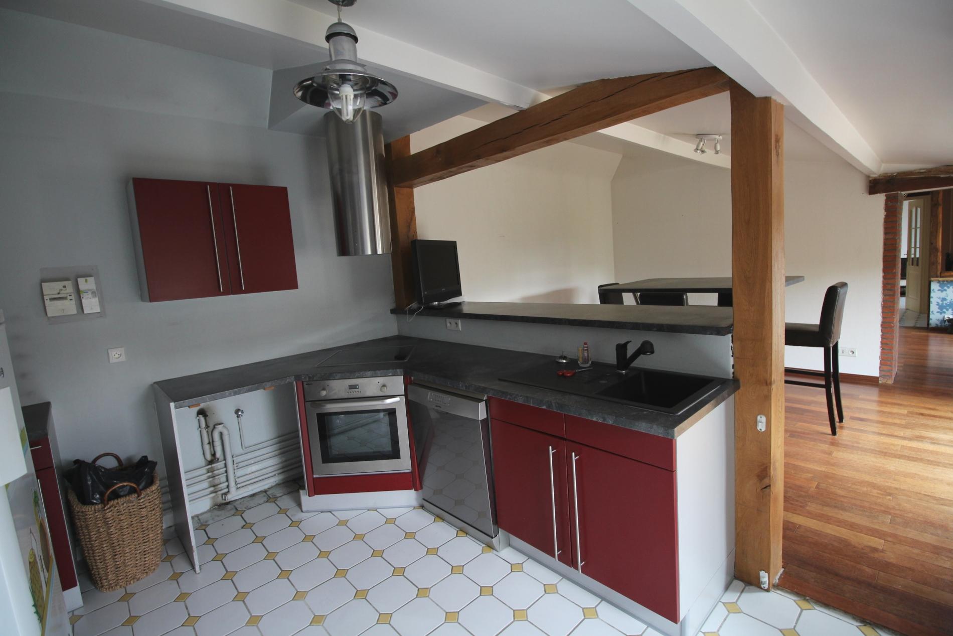Acheter vente d 39 une maison de ville en briques yvetot for Garage a yvetot