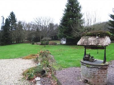 vente d'une maison normande couverte en chaume sur 5000 m² en de terrain paysager dans un très bel environnement au calme