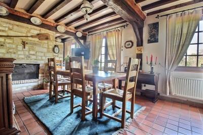 vente d'une maison normande avec un grand séjour, 4 chambres, campagne Caudebec en Caux