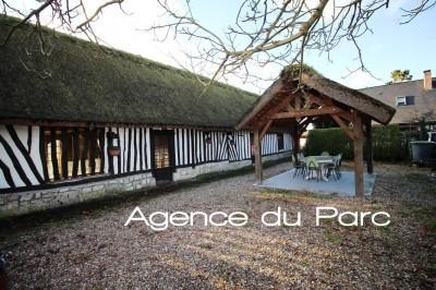 Chaumière normande Parc de Brotonne, à proximité du Pont Campagne Caudebec en Caux, La Mailleraye sur Seine