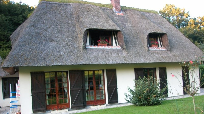 Chaumière de charme à vendre  à Saint Wandrille Rançon, près de Caudebec en Caux, 76, Pays de Caux, vallée de Seine,  entre Rouen et Le Havre