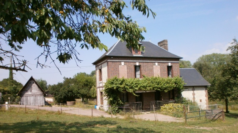 Maison ancienne en briques et pierres proche de la forêt de Brotonne, sur l'axe Caudebec en Caux/ Bourg Achard, 76, Vallée de Seine,