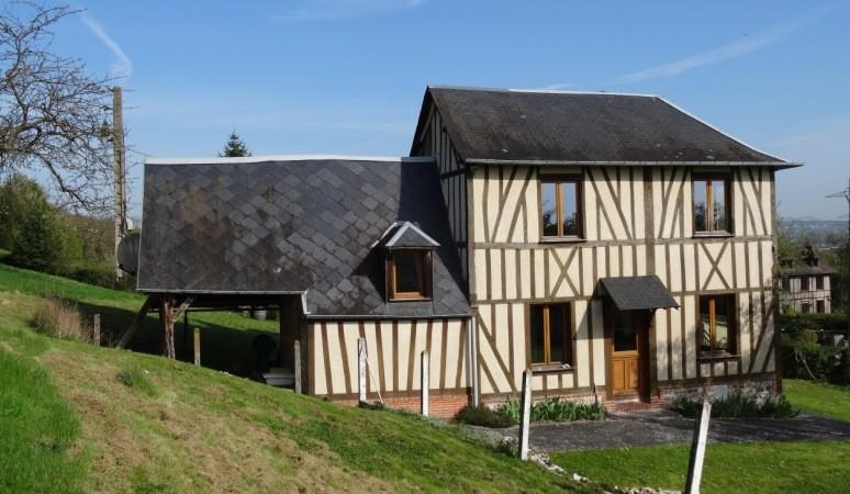 Vente d'une charmante maison normande Proche de la forêt de Brotonne, 76, La Mailleraye sur Seine, Vallée de Seine, à 35 mn de Rouen